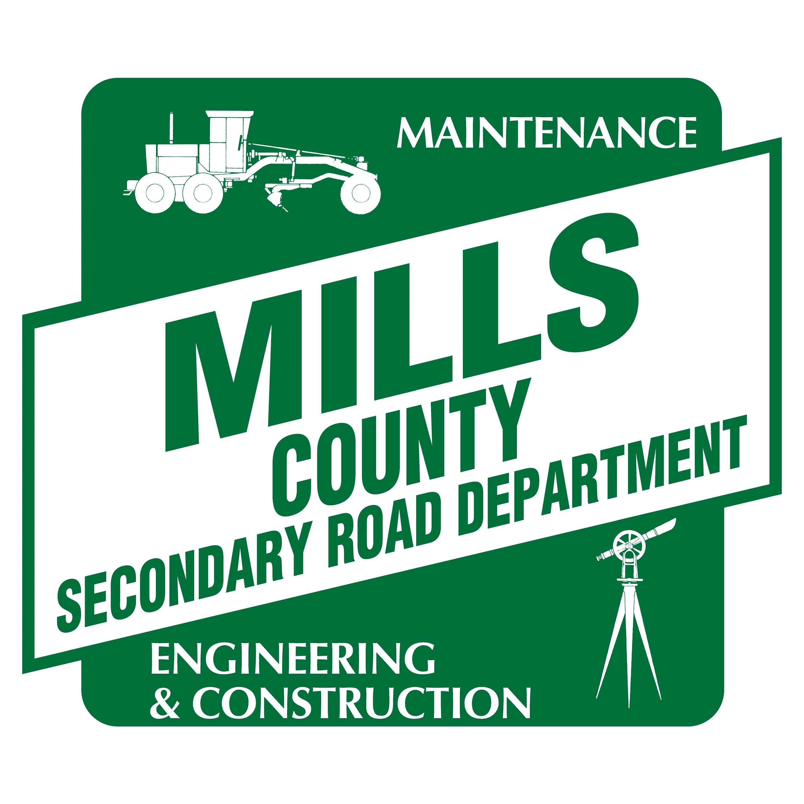 Mills County Roads Logo
